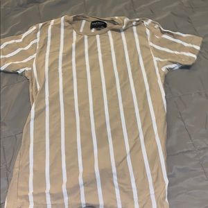 Pacsun Tan and White Striped Shirt